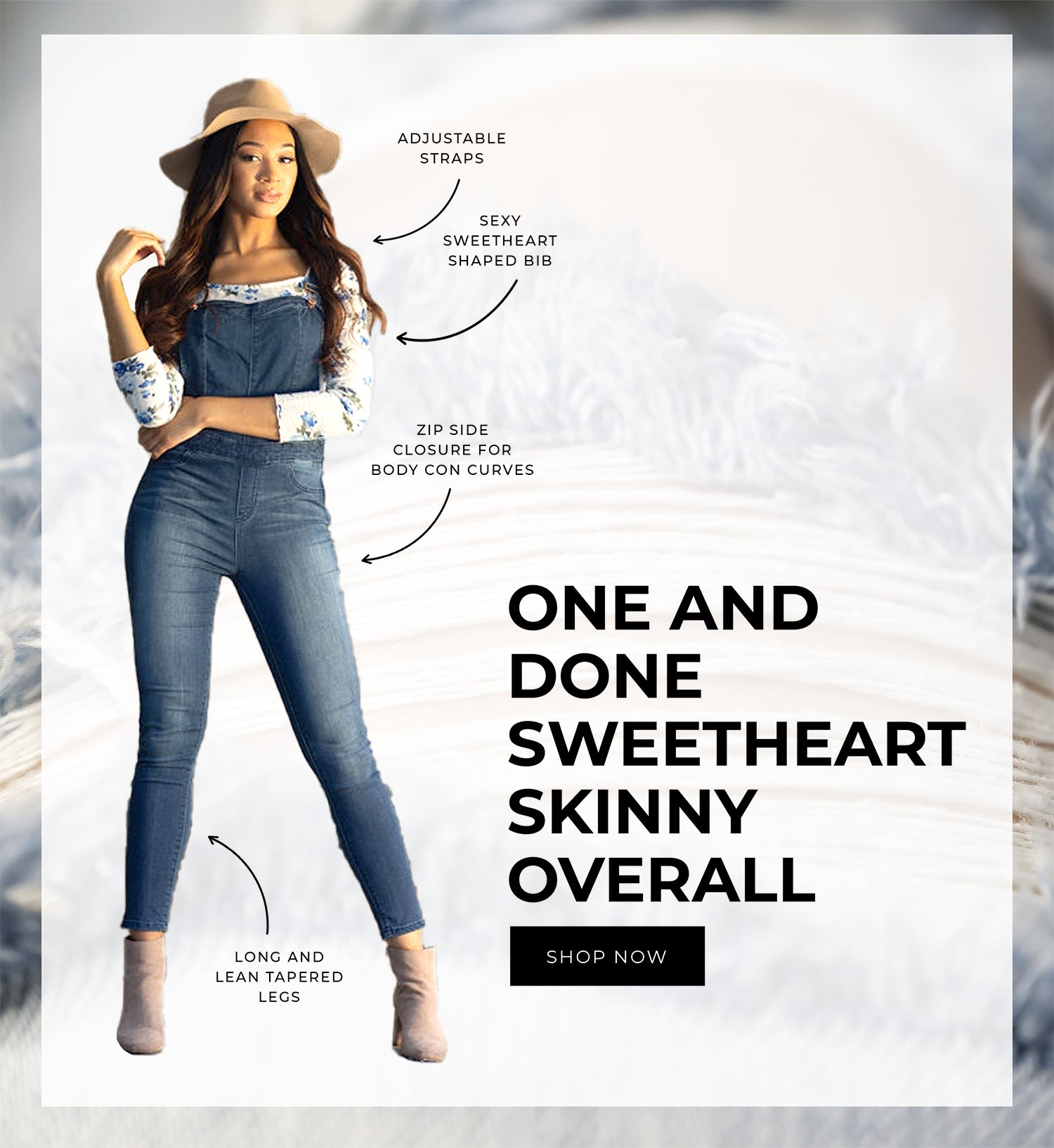 sweetheart overall jean