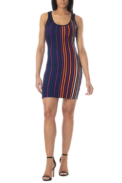 Women's Juniors Striped Tank Sweater Dress - Almost Famous Clothing