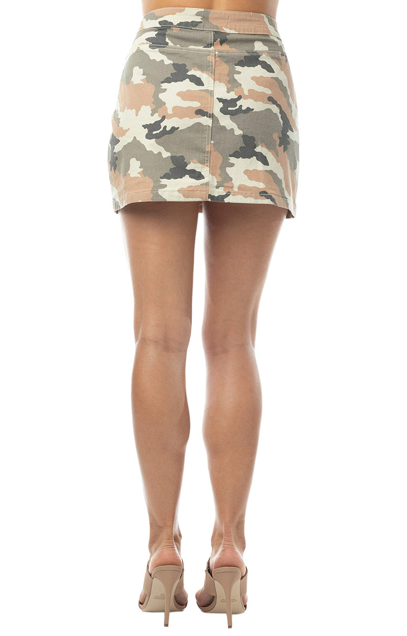 Women's Juniors Button Front A-line Mini Skirt - Almost Famous Clothing