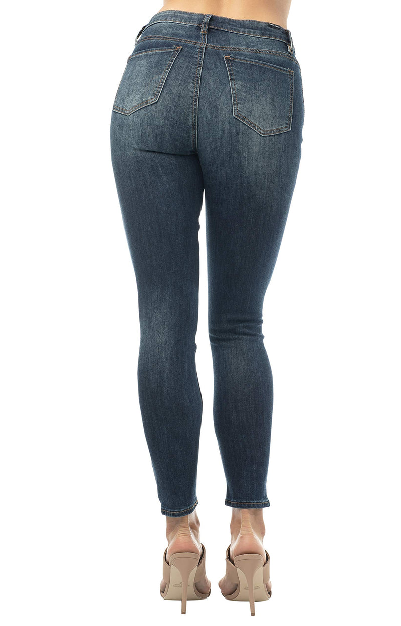 Women's Juniors Destructed High-Rise Skinny Jeans