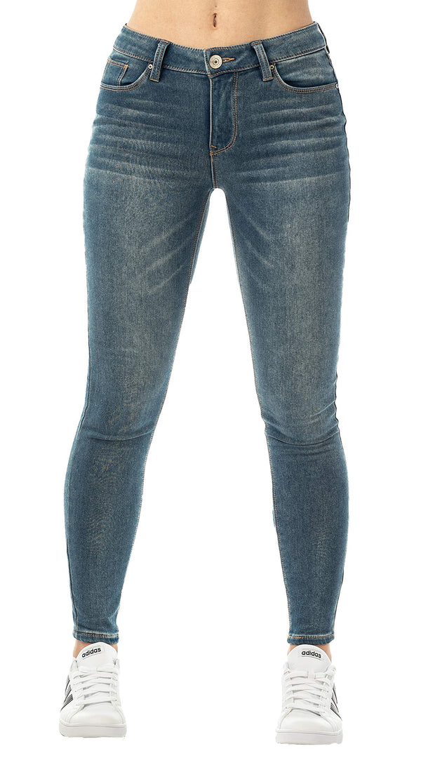 Dark Wash Women's Mid Rise Jegging - Almost Famous Clothing
