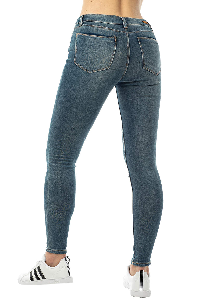 Dark Wash Back Side Of Women's Mid Rise Jegging - Almost Famous Clothing