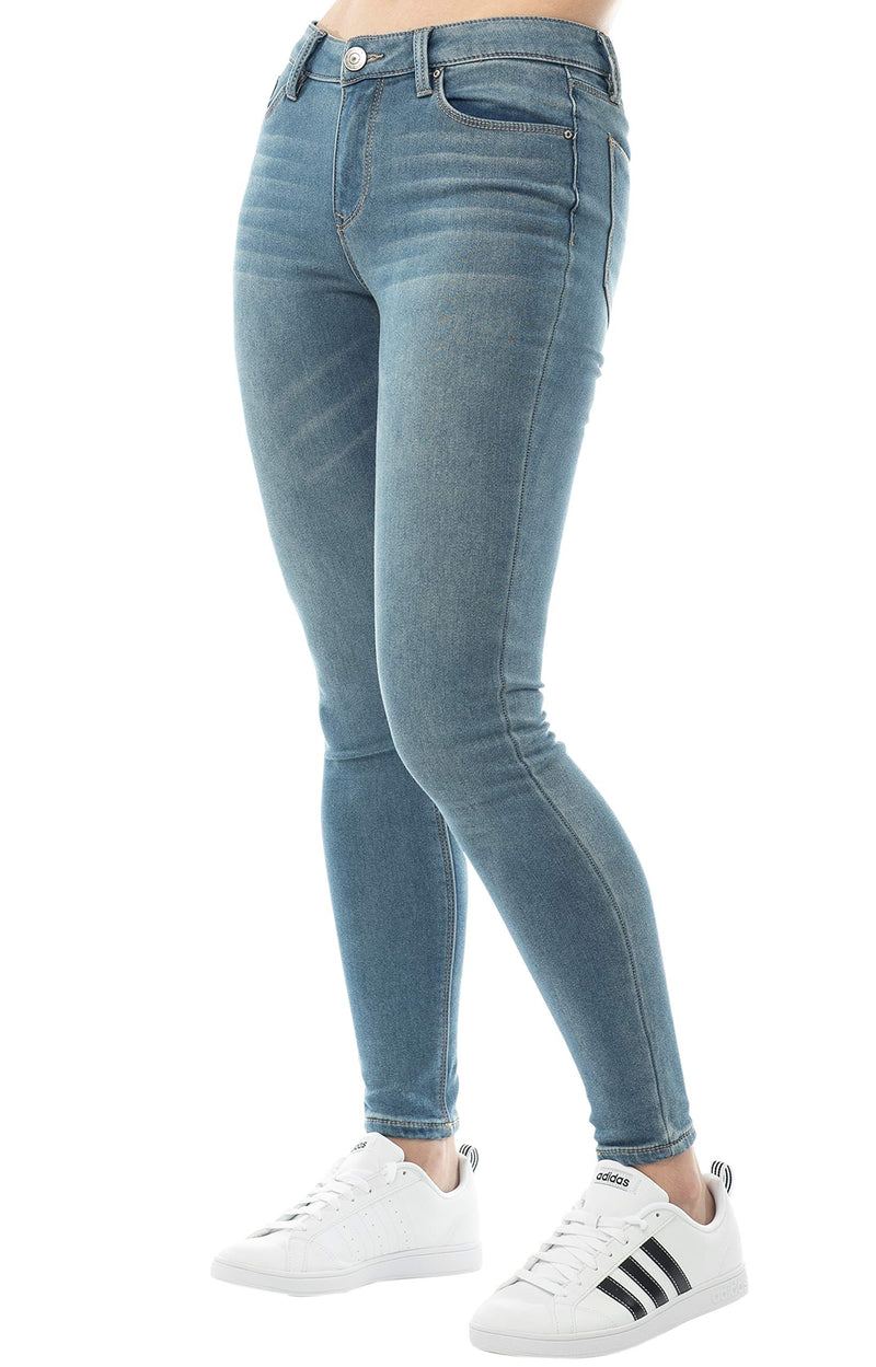Side View Of Women's Mid Rise Jegging - Almost Famous Clothing