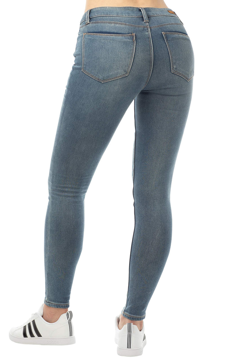 Medium Was Back Side Of Women's Mid Rise Jegging - Almost Famous Clothing