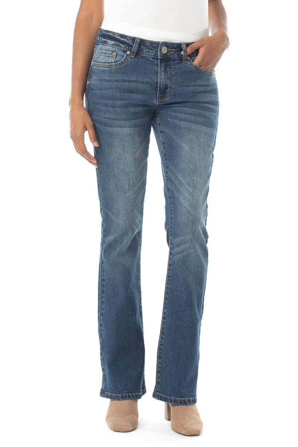 Women's Juniors Mid Rise Bootcut Jean - Almost Famous Clothing