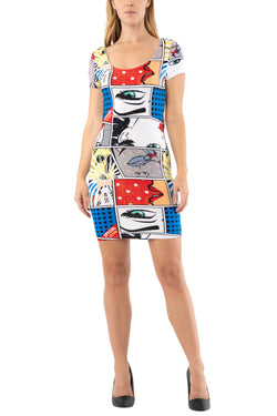 Junior twist back bodycon mini dress - Almost Famous Clothing