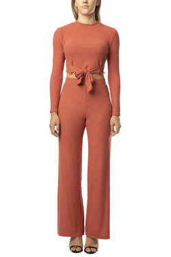 2 (PIECE) OUTFIT PALAZZO PANT SET - Almost Famous Clothing