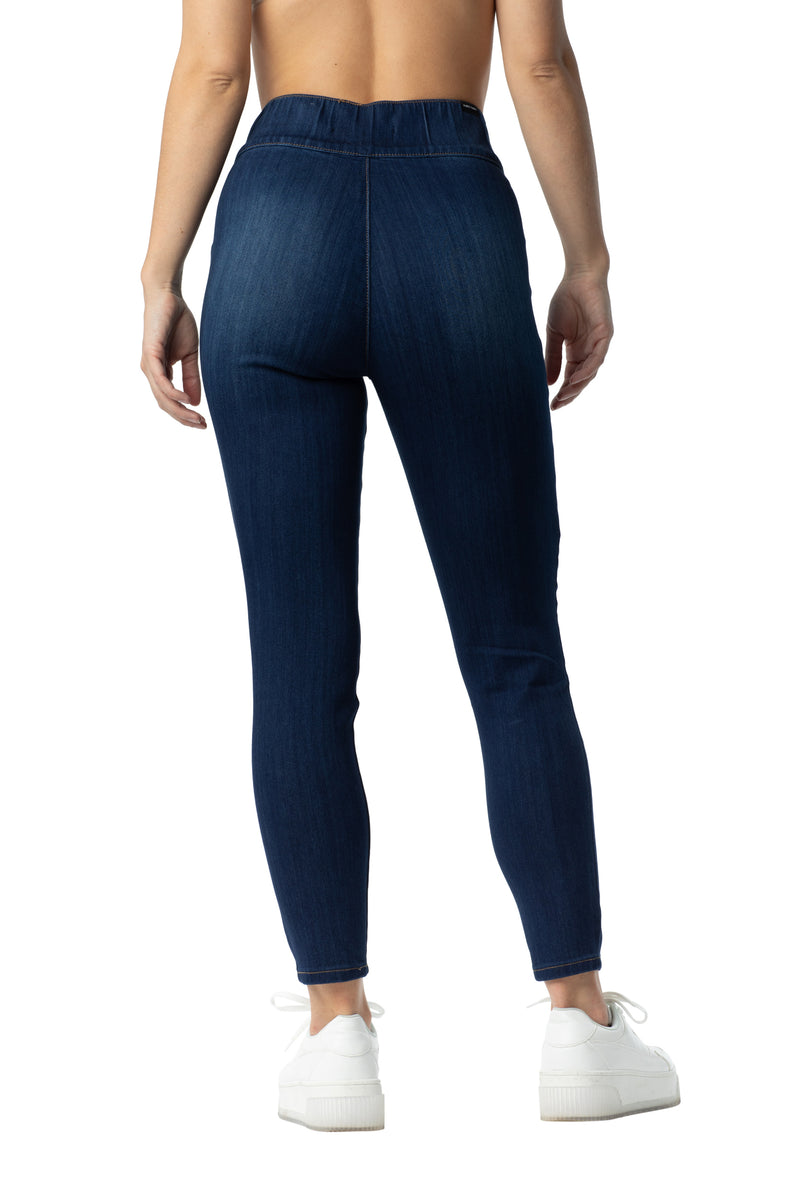 Back side of Almost famous super stretch comfort denim jegging pant - Almost Famous Clothing