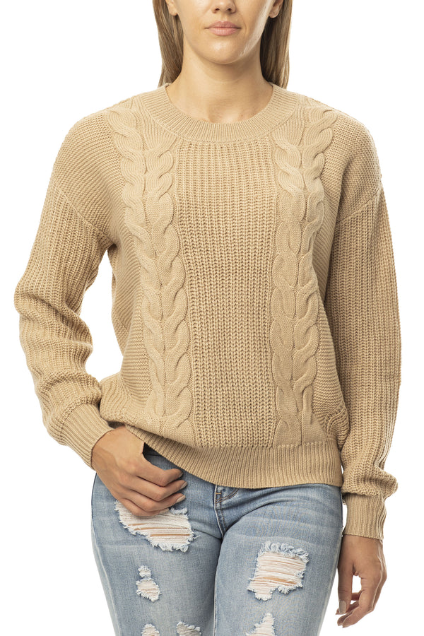 CABLE SLOUCHY SWEATER