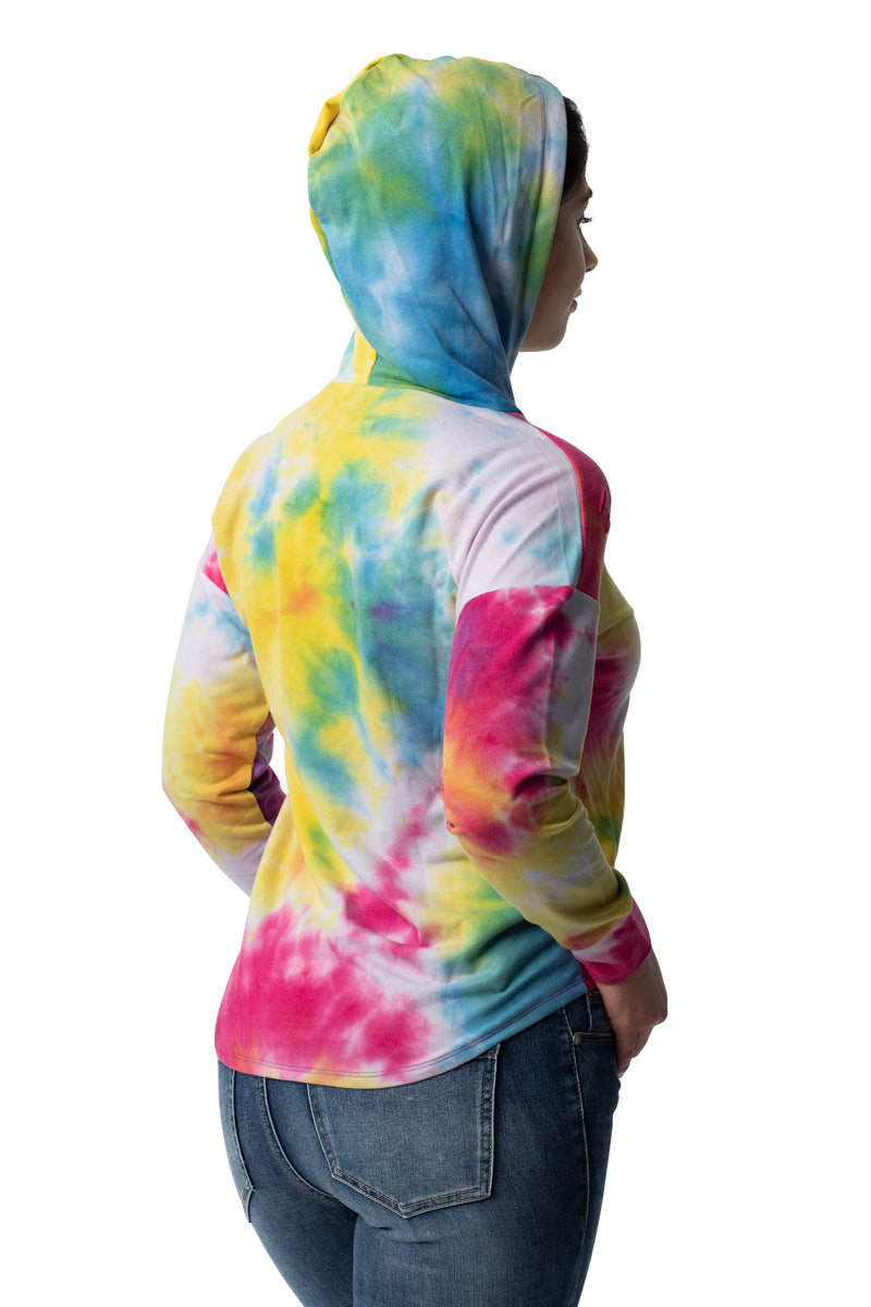 Multicolor destructed hoodie French terry sweatshirt - Almost Famous Clothing