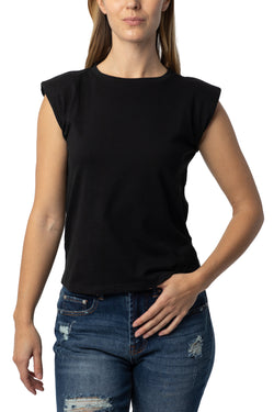 Shoulder pad flange tee - Almost Famous Clothing