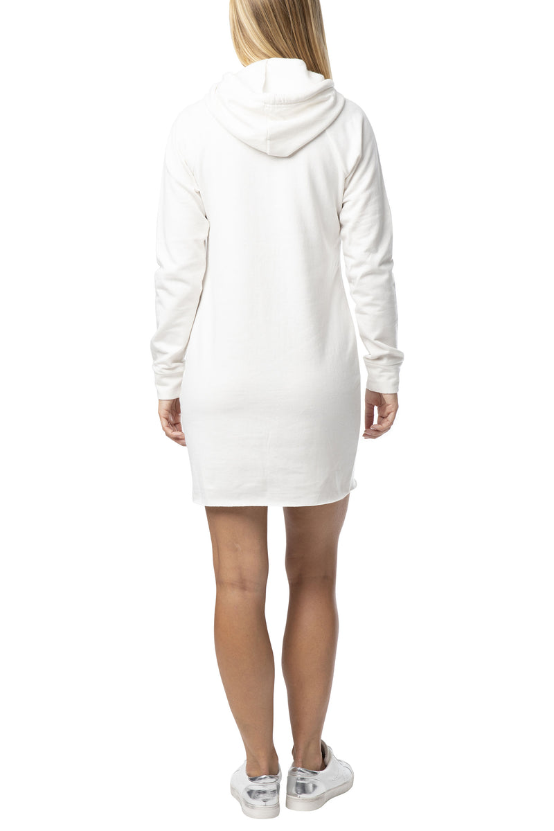 "FLEECE ""MICRO MINI""  HOODIE SWEATSHIRT DRESS"