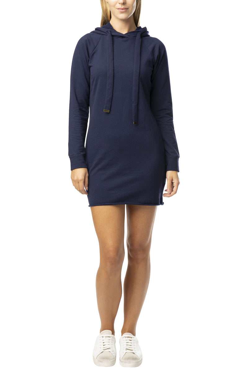 "FLEECE ""MICRO MINI""  HOODIE SWEATSHIRT DRESS - Almost Famous Clothing"