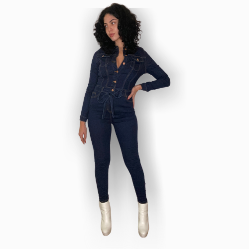 Declavijo Denim Jumpsuit