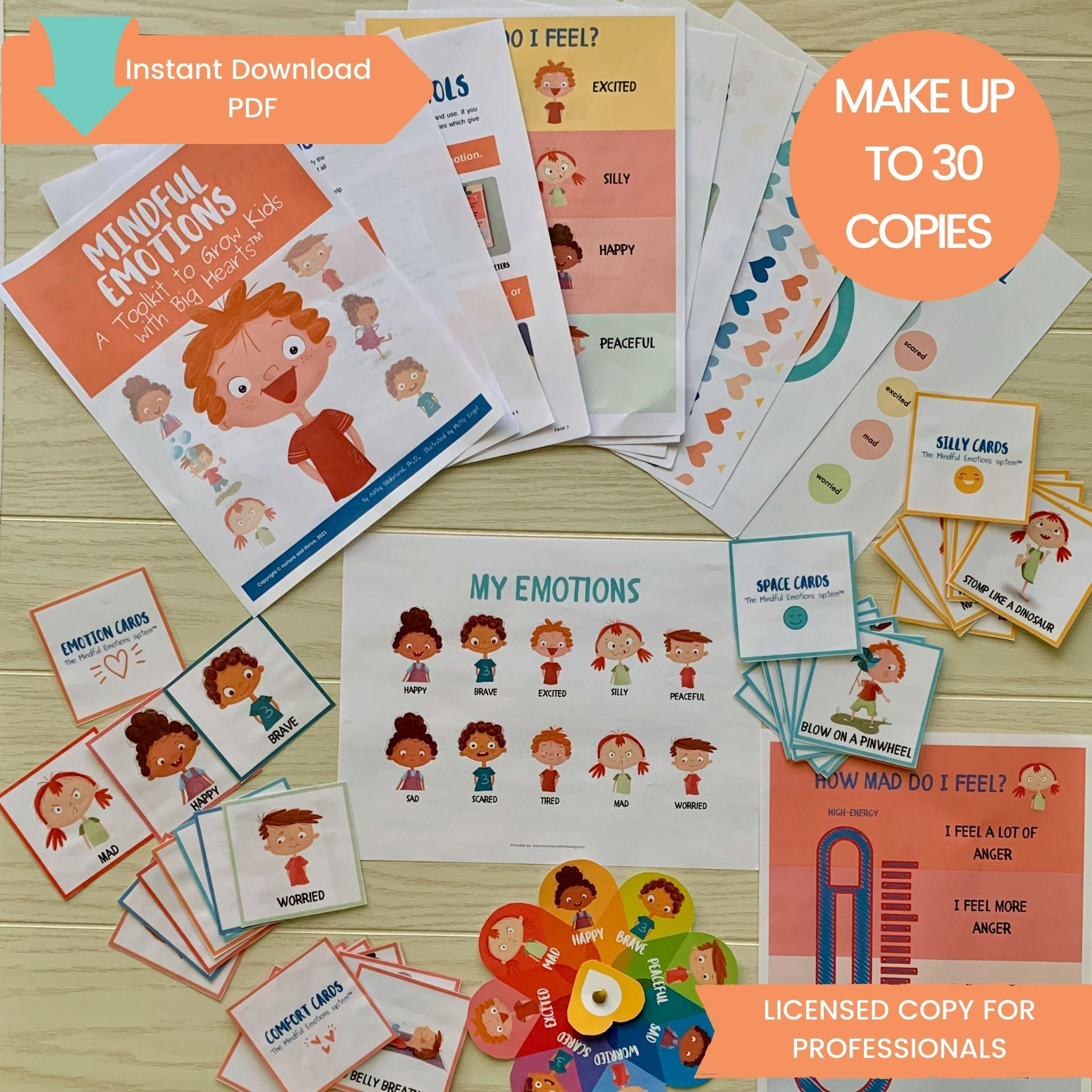 Licensed Copy for Professionals - Mindful Emotions: A Toolkit to Grow Kids with Big Hearts™
