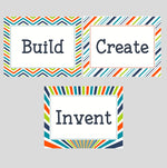 Load image into Gallery viewer, Playroom Signs: Build, Invent, Create