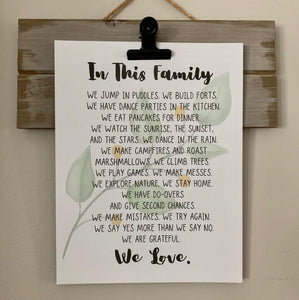 Family Manifesto - Digital Art Print