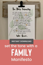 Load image into Gallery viewer, Family Manifesto - Digital Art Print