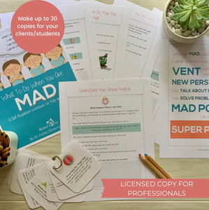 Licensed Copy for Professionals - What to Do When You Are Mad: A Self-Regulation Workbook for Kids and Their Parents