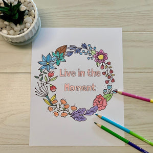 I'm Having a Moment: A Mindful Coloring Book for Parents