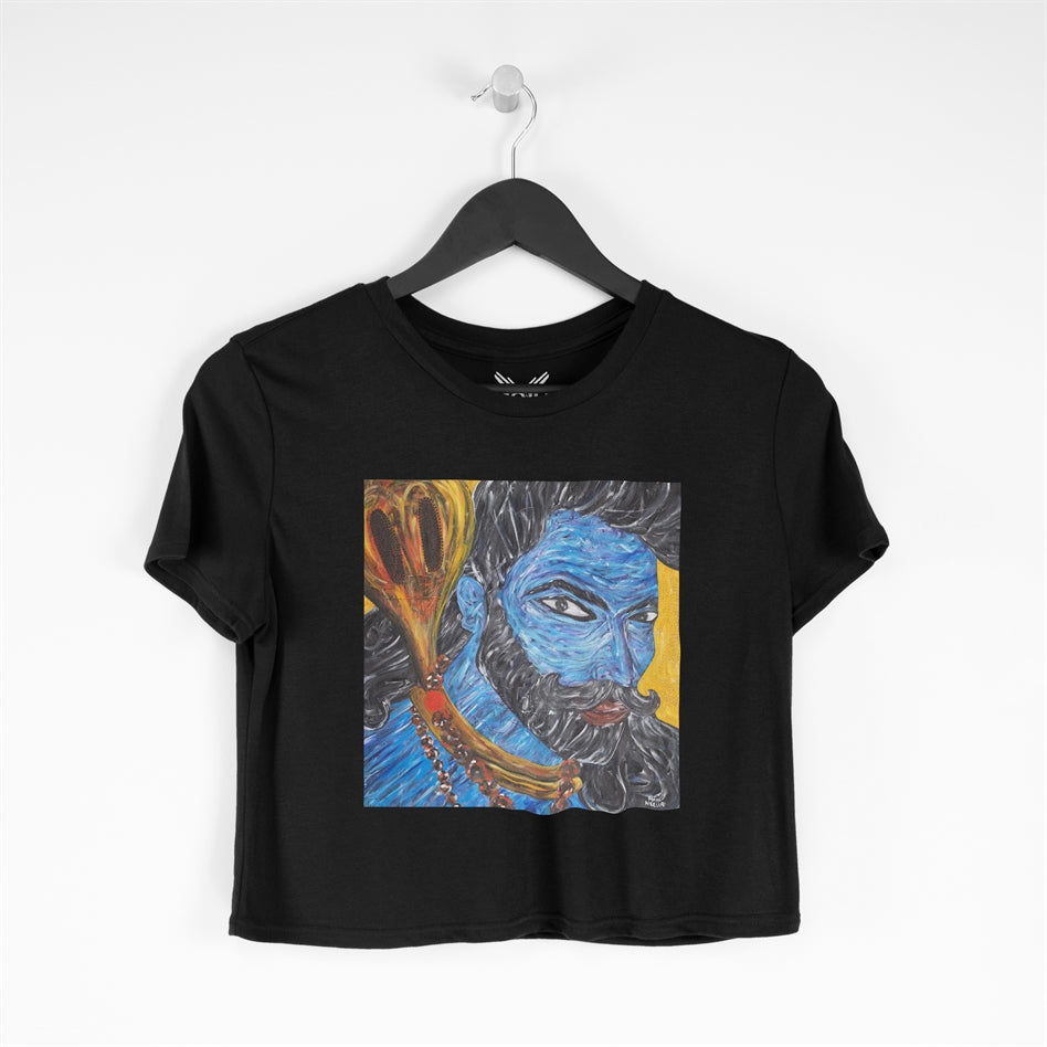 Om Namah Shivay Cropped T-shirt For Women