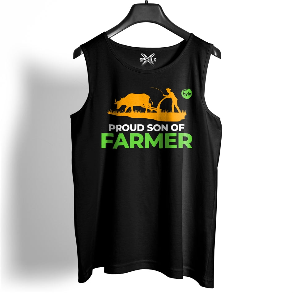 Street Byte Proud Son Of A Farmer Gym Vest For Men