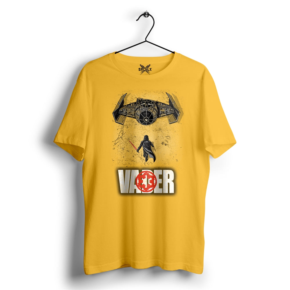 Dark side of the Force-2 Vader golden yellow T-shirt For Men