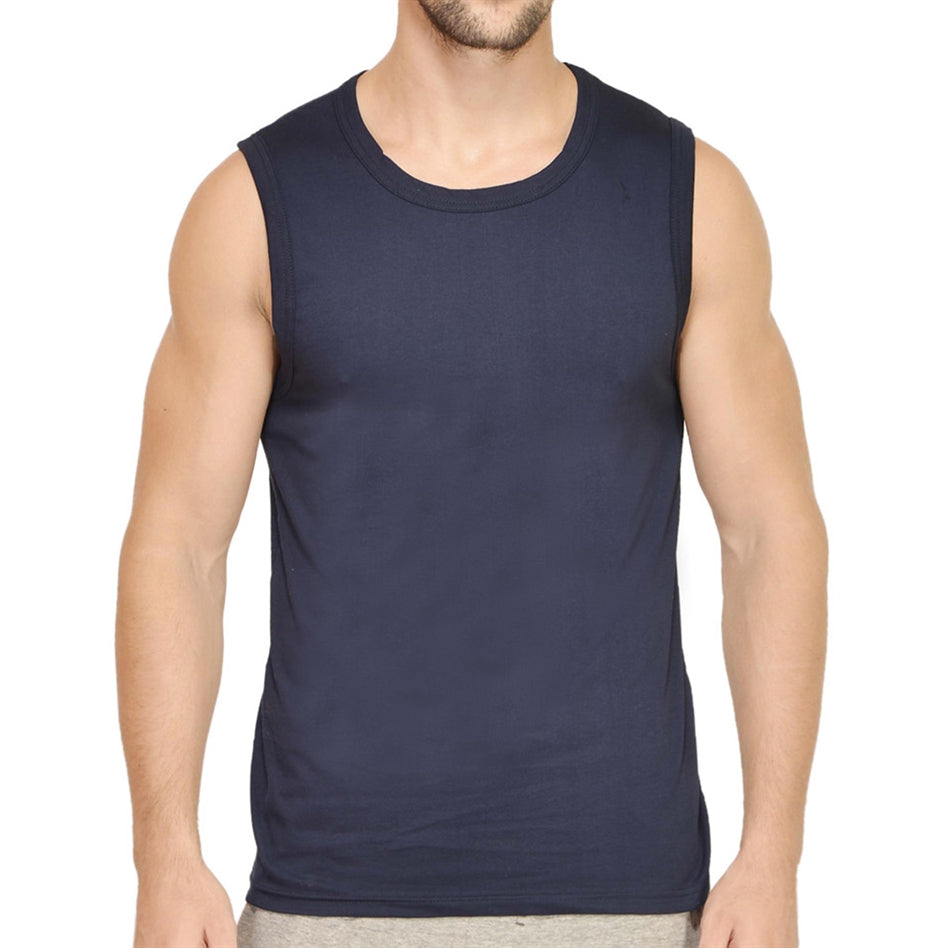 Navy Blue Gym Vest For Men