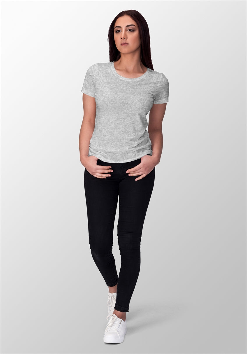 Grey Melange T-shirt For Women