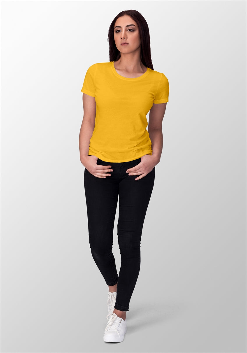 Golden Yellow T-shirt For Women