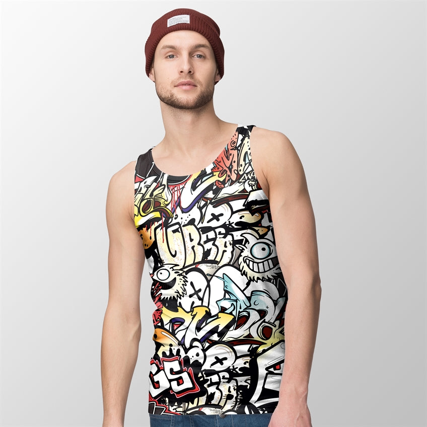 Graffiti Party (Dsn#01) Tank/Sandos For Men