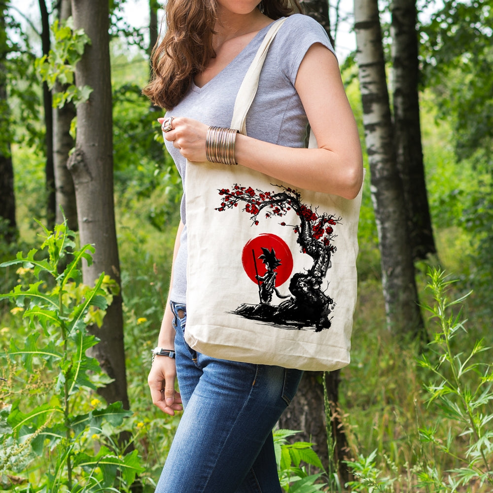 Saiyan Under The Sun Canvas Tote Bag for Women