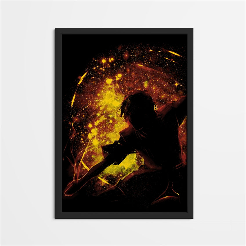 Space Flame Framed Poster
