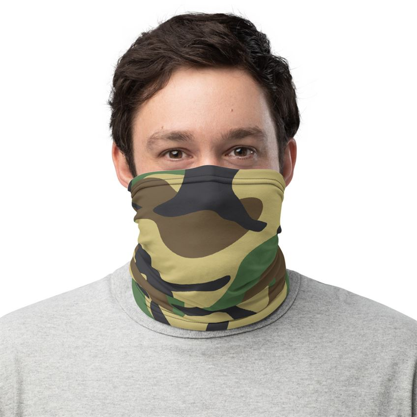 Military Green Camouflage Bandana Mask