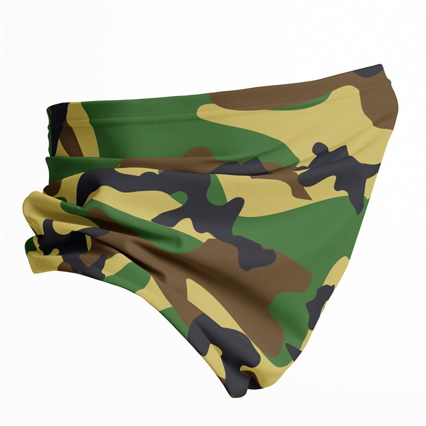 Military Green Camouflage Unisex Neck gaiter