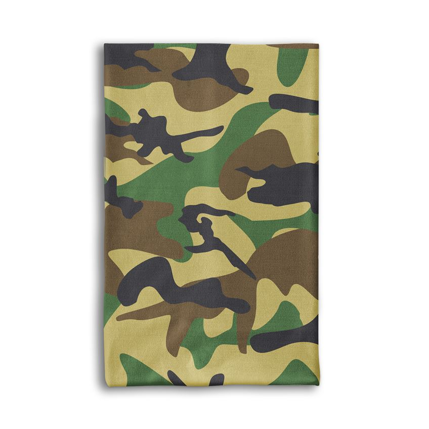Military Green Camouflage Neck gaiter/Bandana Mask