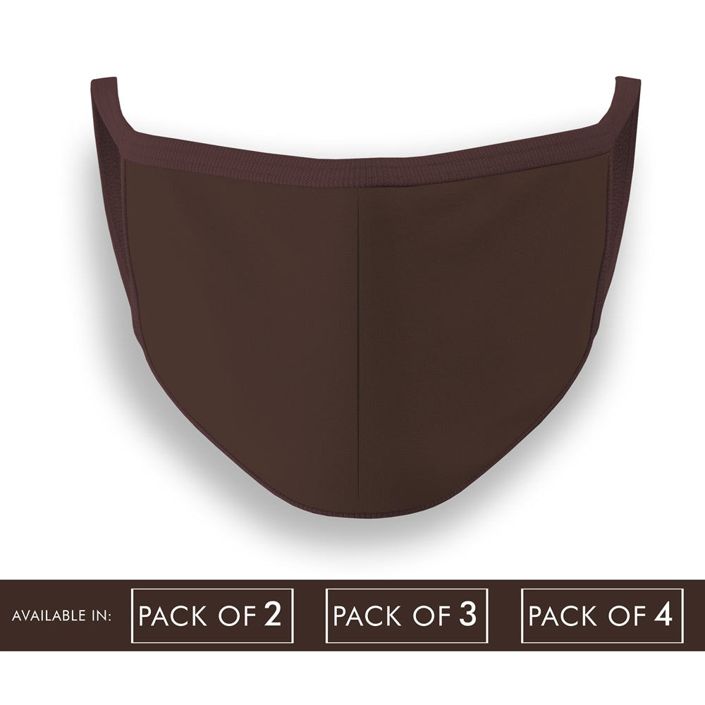 Coffee Brown Plain Face Mask Combo Pack