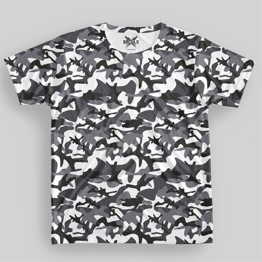 Snow Camouflage Unisex All over Print T-shirt