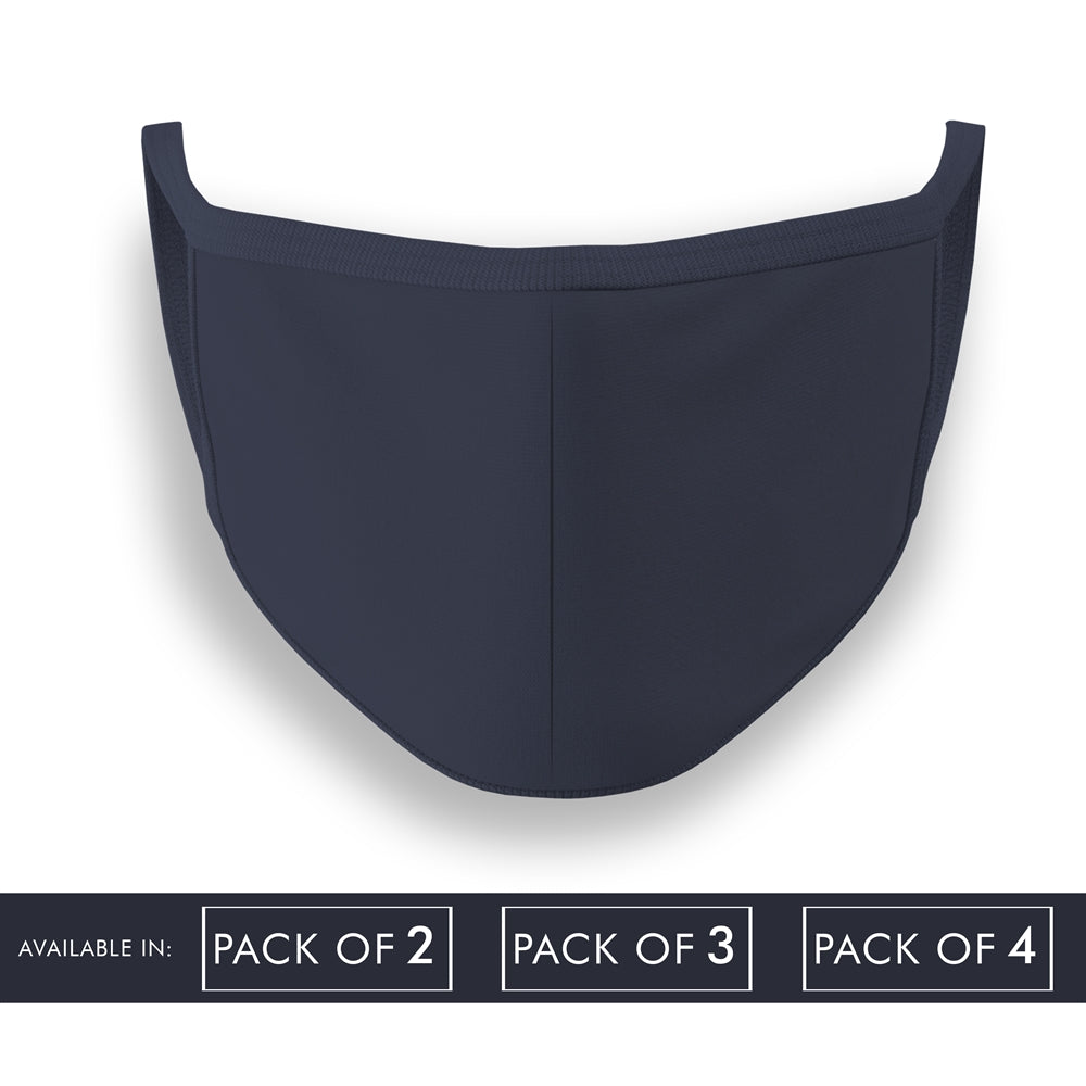 Navy Blue Plain Face Mask Combo Pack