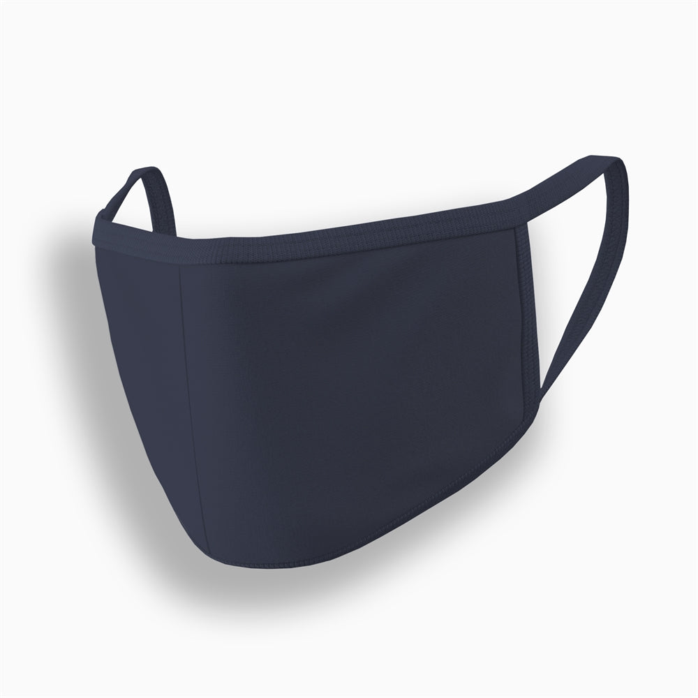 Navy Blue Plain Face Mask