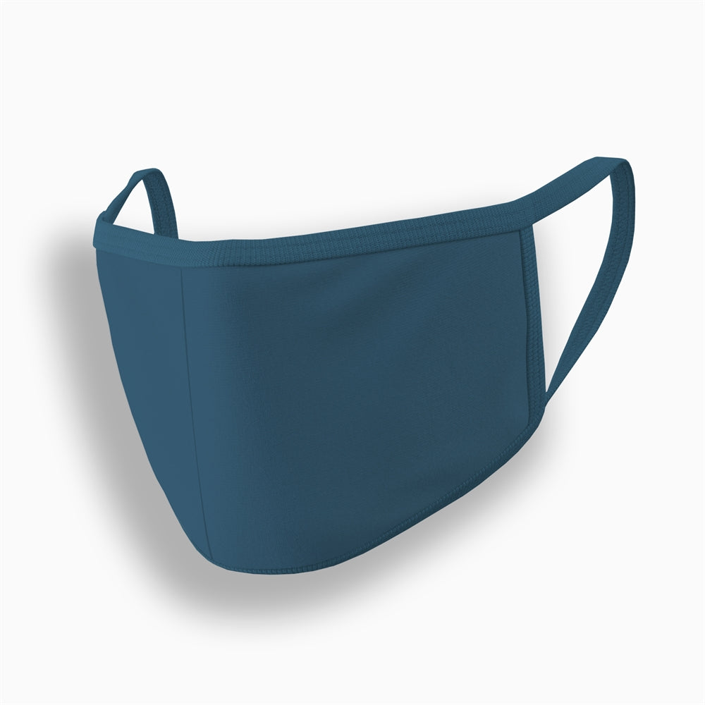 Petrol Blue Plain Face Mask