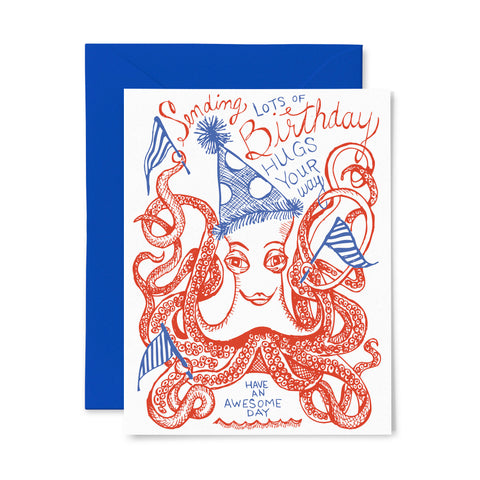 Octopus | Birthday | Letterpress Greeting Card