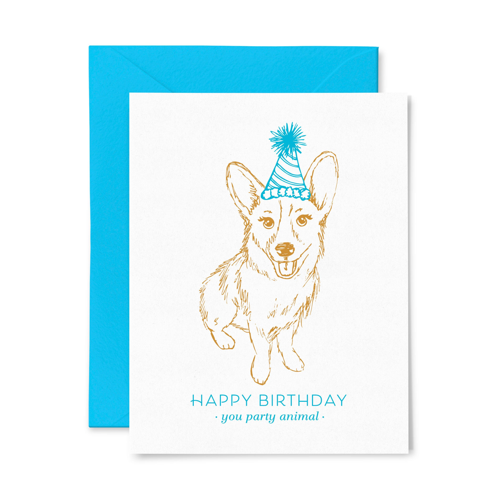 Corgi | Birthday | Letterpress Greeting Card