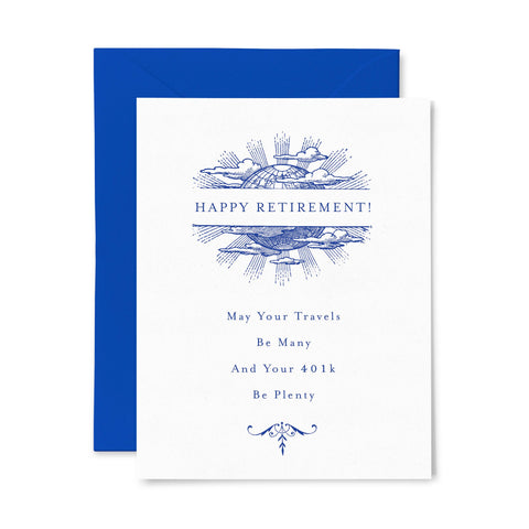 401K Be Plenty | Retirement | Letterpress Greeting Card