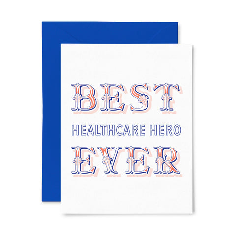 Healthcare Hero | Letterpress Greeting Card