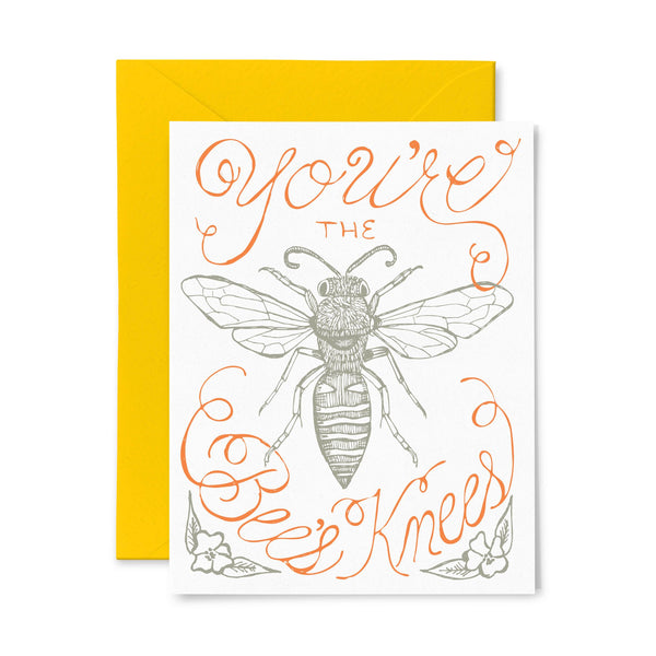 Bees Knees | Multi-Use | Letterpress Greeting Card