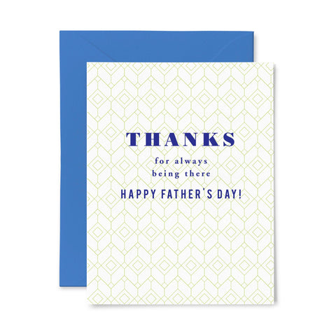 Being There Dad | Father's Day | Letterpress Greeting Card