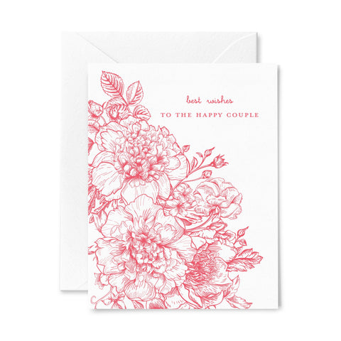 Best Wishes | Wedding | Letterpress Greeting Card