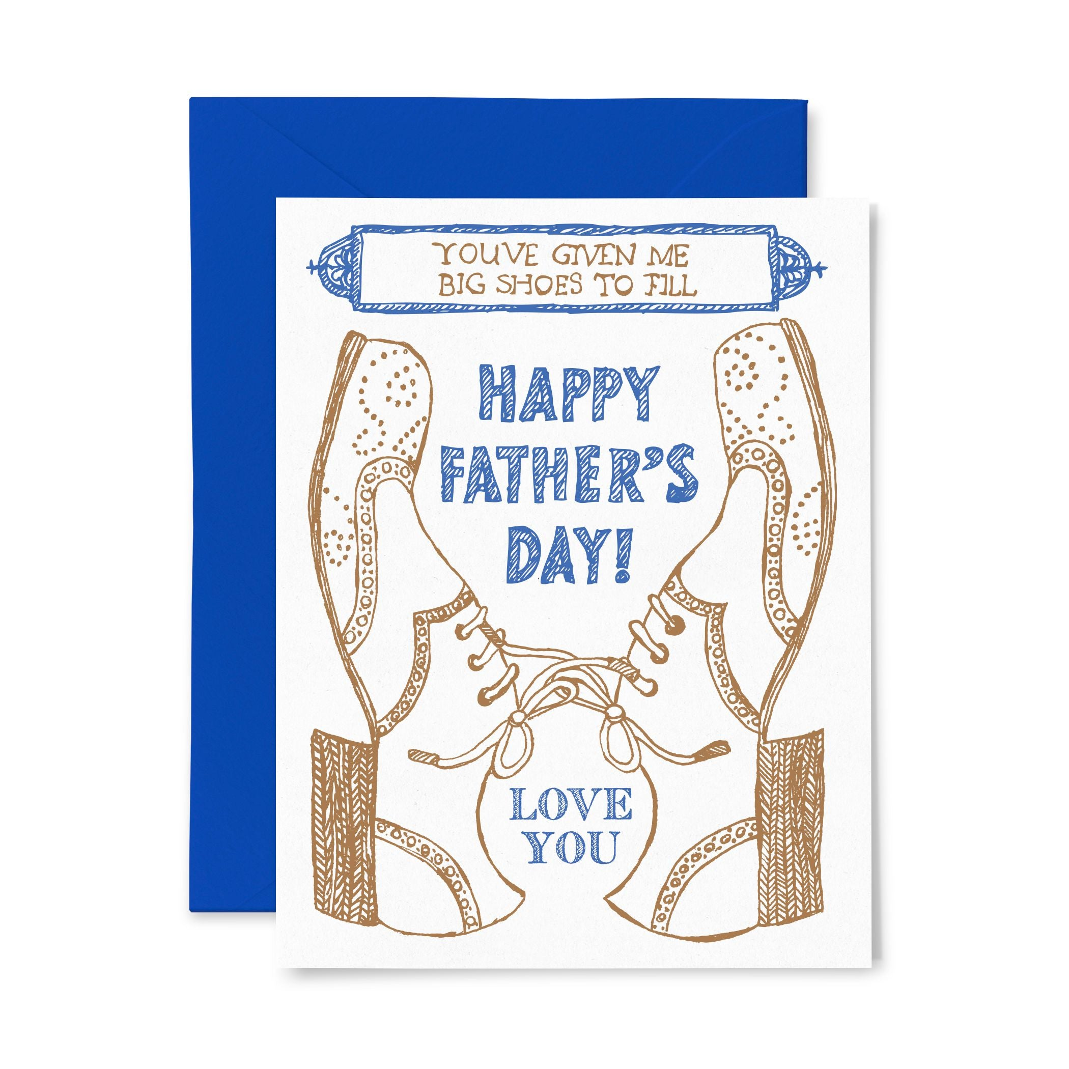 Big Shoes | Father's Day | Letterpress Greeting Card