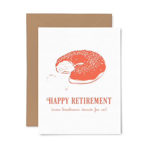 Break Room Donuts | Retirement | Letterpress Greeting Card